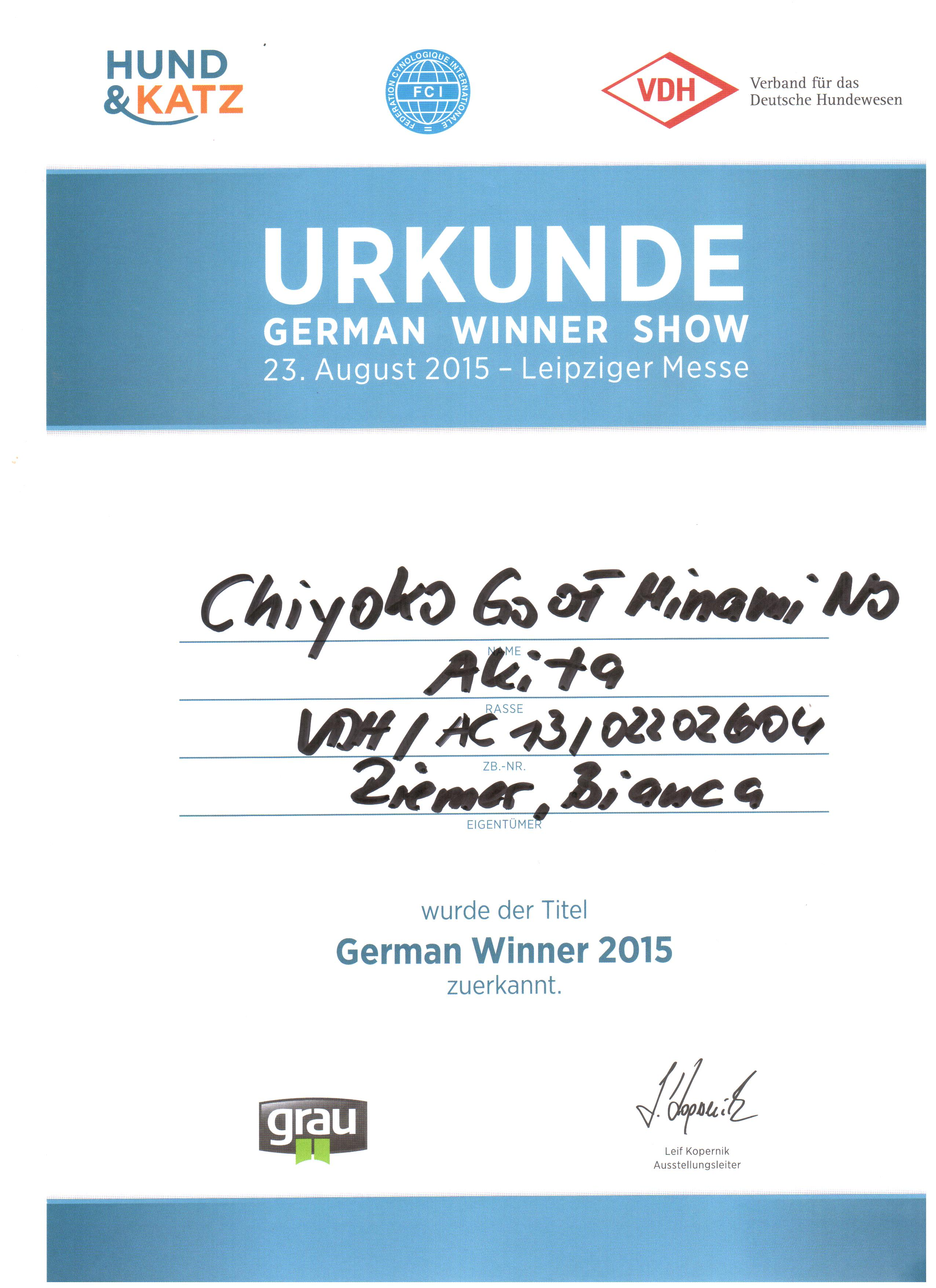 German Winner 2015